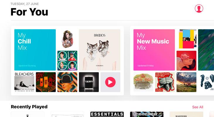Apple Music añade una nueva lista de reproducción personalizada: My Chill Mix