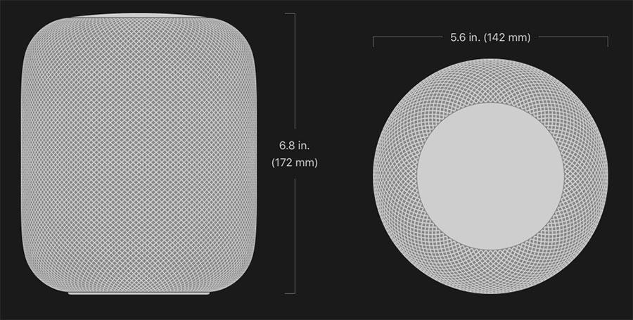 HomePod: Dimensiones