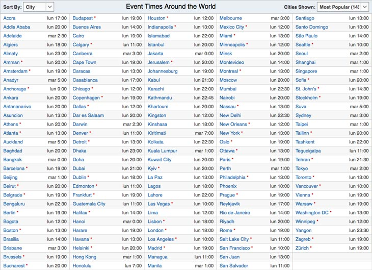 Horarios mundiales-WWDC-2017
