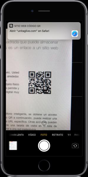 Lector de códigos QR iOS 11