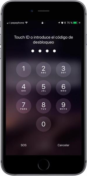 Pantalla bloqueo iOS 11