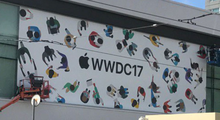Apple empieza a decorar el McEnery Convention Center para la WWDC 2017