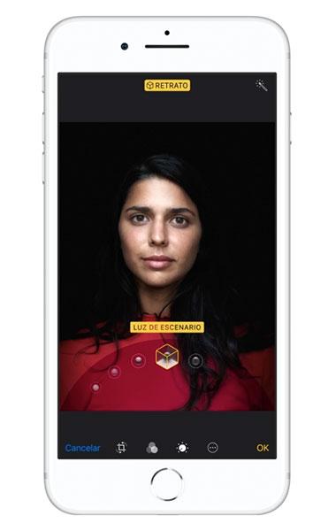 iPhone 8 Plus Modo Iluminación de Retratos