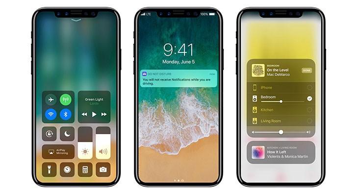 Así sería un iPhone 8 con iOS 11