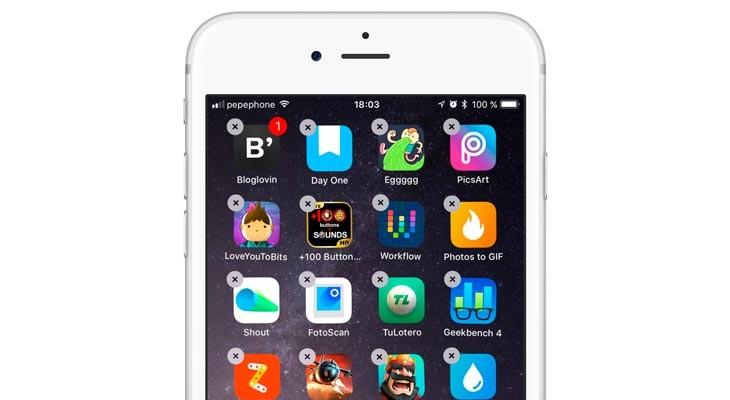 Cómo mover varias aplicaciones a la vez en el iPhone