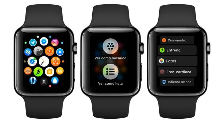 Cómo cambiar la forma en la que se muestran las App en el Apple Watch