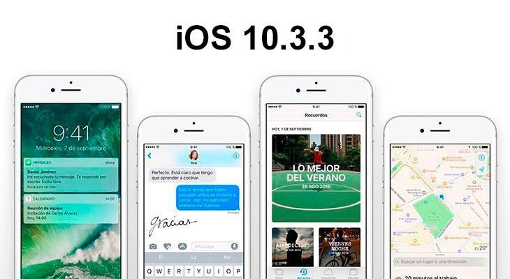 iOS 10.3.3 ya disponible para descargar