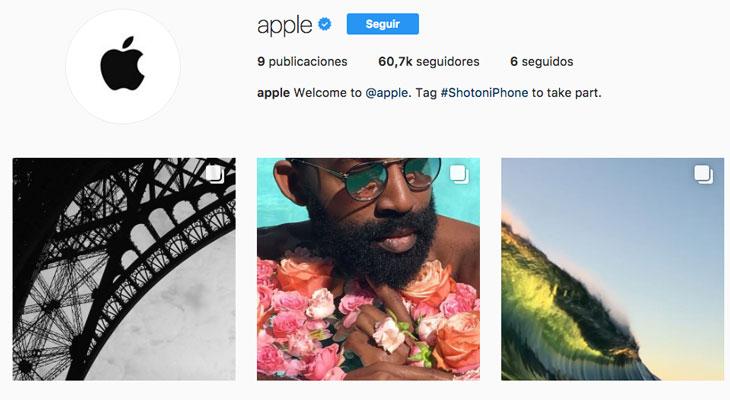 Apple ya tiene cuenta de Instagram y podría publicar tus fotos…