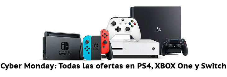 Cyber Monday PS4, XBOX One, Nintendo Switch y Videojuegos