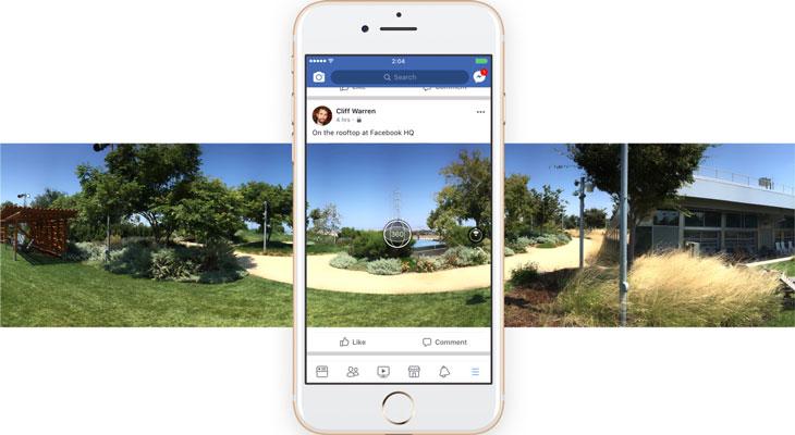 La app de Facebook para iOS ya permite hacer fotografías en 360 grados