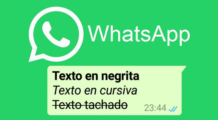 WhatsApp hace más fácil escribir en negritas, cursivas y tachado