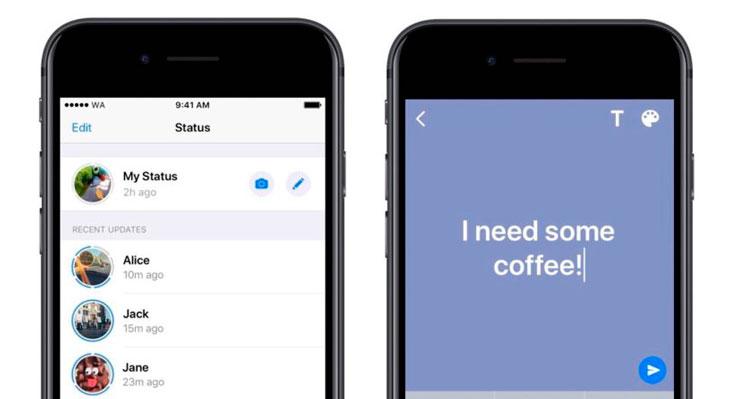 WhatsApp anuncia nuevos estados de texto parecidos a los de Facebook