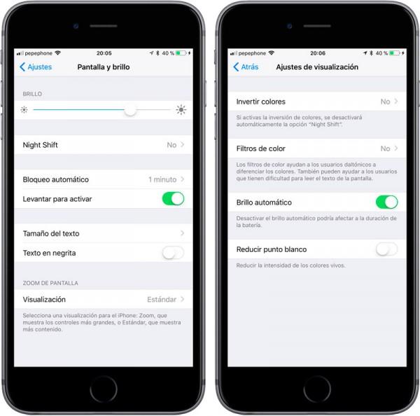 iOS-11-brillo-automático