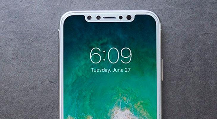 Así se verán la barra de estado y el Dock en el iPhone 8