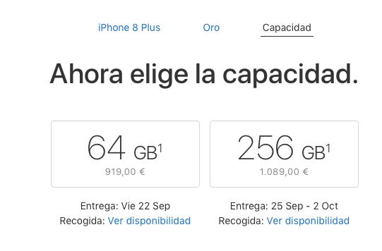 Reservas iPhone 8