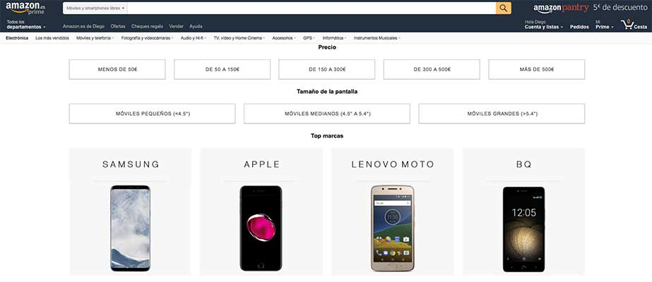 Comprar iPhone en Amazon