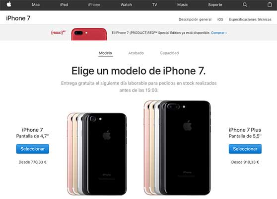 Comprar iPhone en Apple Store