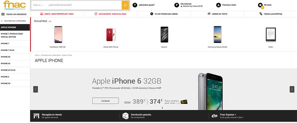 Comprar iPhone en FNAC