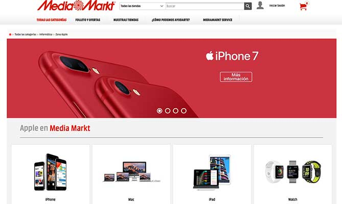 Comprar iPhone en Media Markt