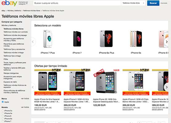 Comprar iPhone en eBay