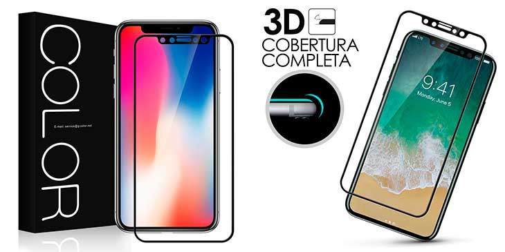 Protector 3D para iPhone X - G-Color