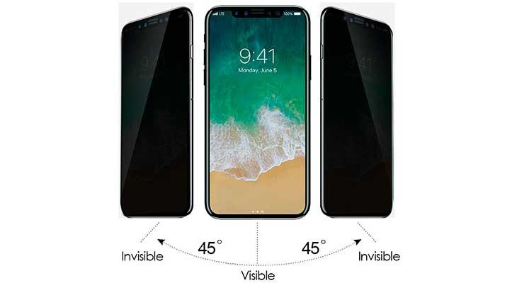 Protector con filtro de privacidad para iPhone X - G-Color