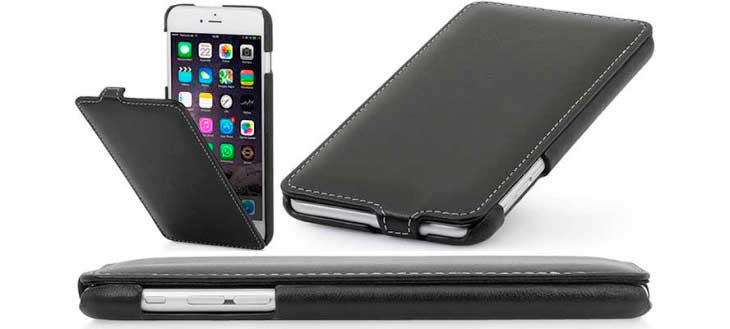 Funda de Cuero Autentico para iPhone 8 y 8 Plus - StilGut UltraSlim