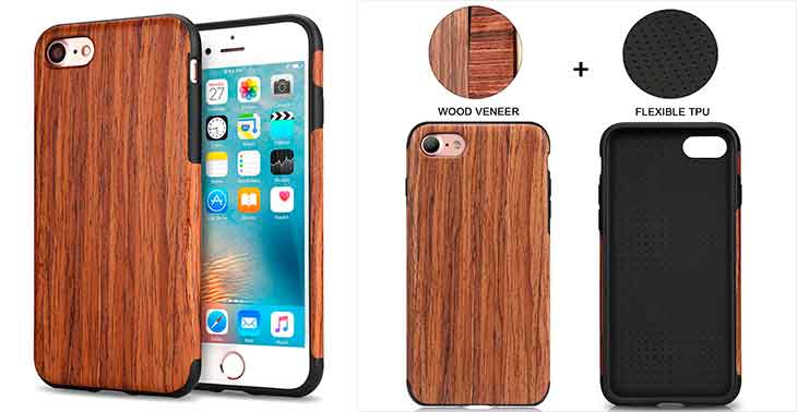 Funda de Madera para iPhone 8 y 8 Plus - TENDLIN