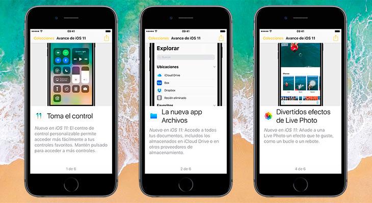 Apple ha empezado a promocionar iOS 11 a través de la aplicación Consejos
