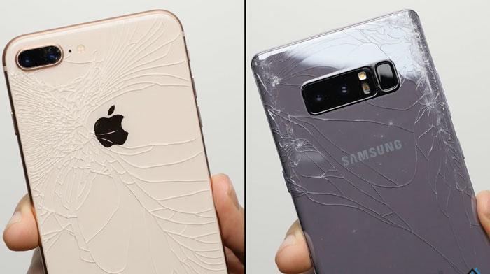 iPhone-8-Galaxy-Note-8-test-fallen