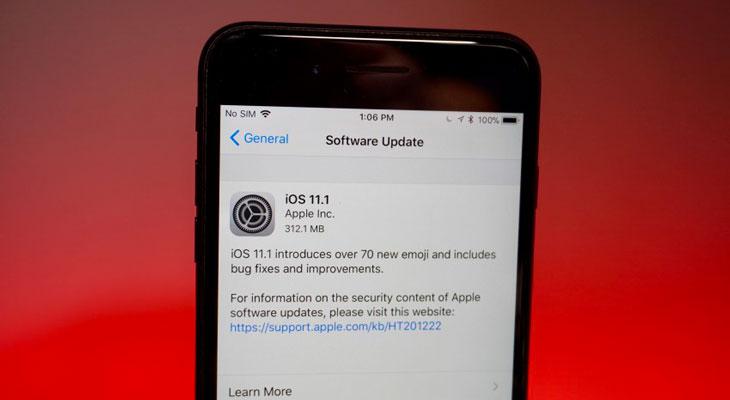 iOS 11.1 disponible para descargar