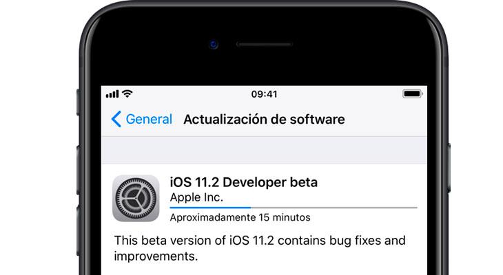Apple lanza iOS 11.2 beta 1 para desarrolladores