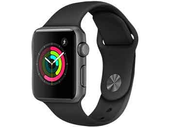 Apple Watch SERIES 1, 42mm, Caja de aluminio, gris espacial, correa negra
