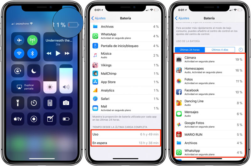 battery life iPhone X