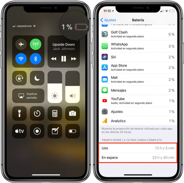 How long the iPhone X battery lasts