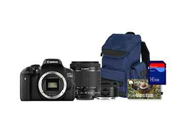 Canon EOS 750D con Objetivos 18-55 mm IS STM + 50 mm y Essentials Kit