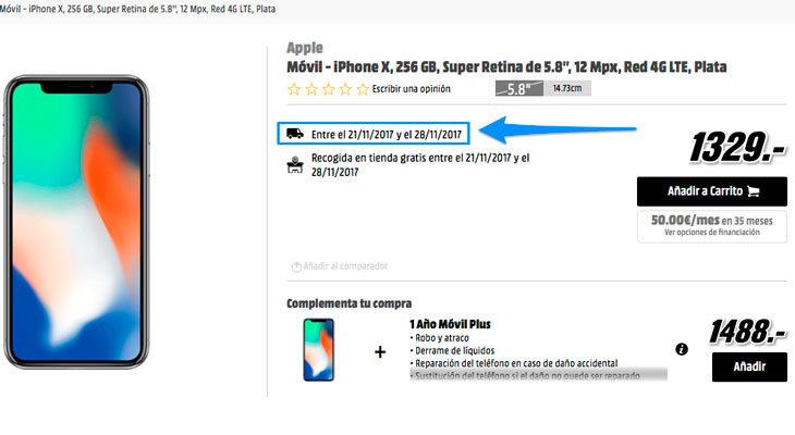 Media Markt te envía el iPhone X antes que Apple