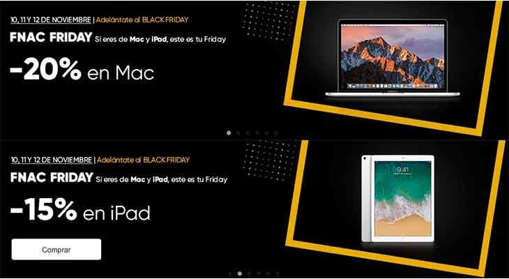FNAC se adelanta al Black Friday con descuentos en Mac y iPad este fin de semana