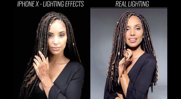 Modo Iluminación de Retratos del iPhone X vs iluminación de estudio profesional [Vídeo]