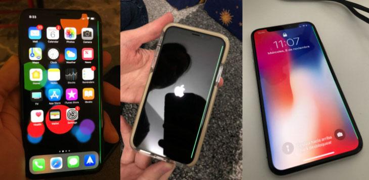 """Una misteriosa """"línea verde de la muerte"""" aparece en las pantallas de algunos iPhone X"""