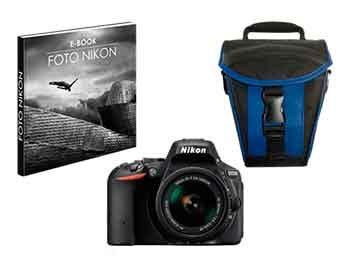 Kit cámara réflex – Nikon D5300 + Objetivo AFP 18/55 mm VR + Funda