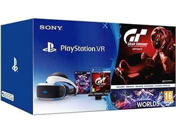 PlayStation VR + Cámara + Worlds VR + Gran Turismo Sport + Auriculares Ardistel