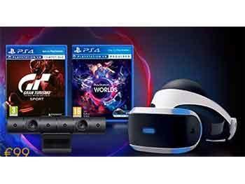 Playstation VR + Cámara + VR Worlds + Gran Turismo Sport