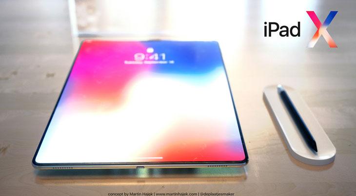 iPad X: así sería un iPad con el diseño del iPhone X [Concepto]