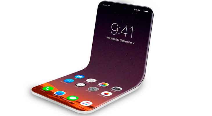 Apple patenta un iPhone plegable que tendría pantalla Micro-LED flexible