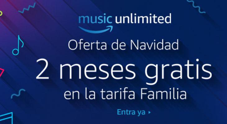 Consigue 2 meses de música ilimitada para 6 personas Gratis