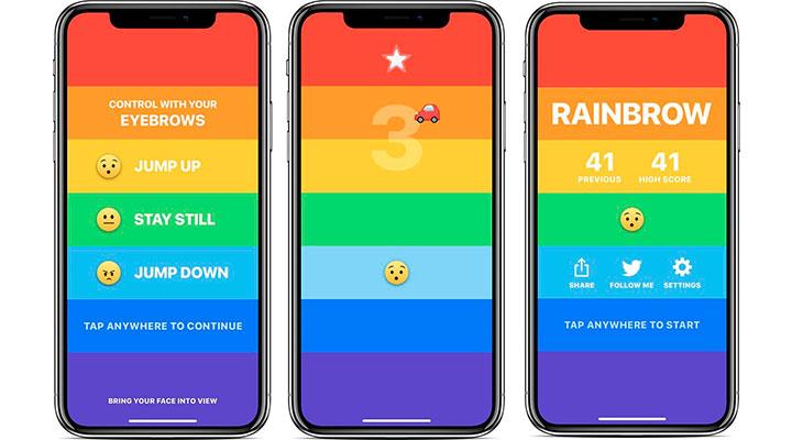 Este juego para iPhone X se juega con las cejas