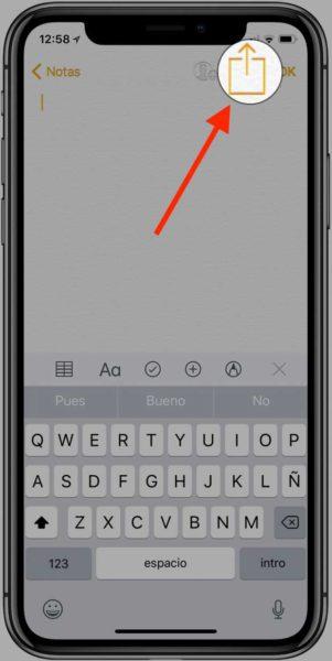 App notas iPhone