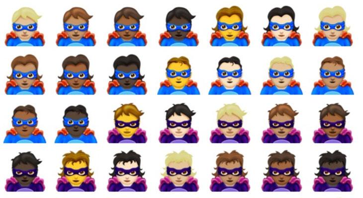 Los Superhéroes y Supervillanos llegan a los emojis en 2018