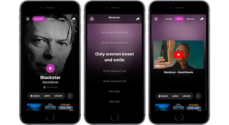 Shazam se actualiza con una nueva interfaz, letras en tiempo real y más
